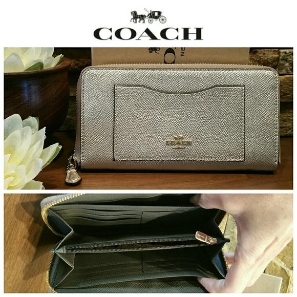 Coach Handbags - *BIG SALE* NEW Coach Accordion Wallet, Platinum
